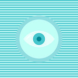 Eye color flat icon