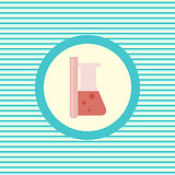 Medical flasks color flat icon