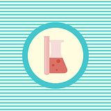 Medical flasks color flat icon