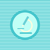 Microscope color flat icon