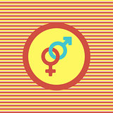 Male and female color flat icon