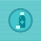 Therapeutic syrup color flat icon