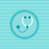 Stetoscope color flat icon