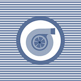 Turbine color flat icon