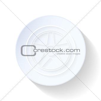 Car wheel thin lines icon