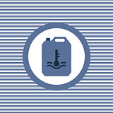 Automotive water color flat icon