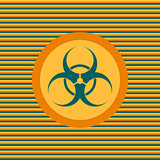 Biohazard color flat icon