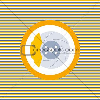 Car brake discs color flat icon