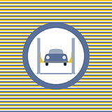 Car lift color flat icon
