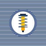 Shock absorber color flat icon