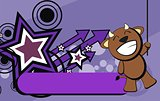 cute bull expression cartoon background9