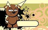 cute bull expression cartoon background7