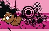 cute bull expression cartoon background3