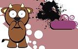 cute bull expression cartoon background