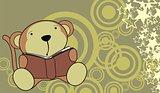 monkey baby cute reading cartoon background