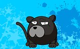 panther ball cartoon background5