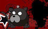panther ball cartoon background