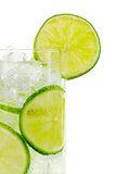 Glass with water including clipping path