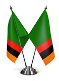 Zambia - Miniature Flags.