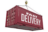 Fast Delivery -Brown Hanging Cargo Container.