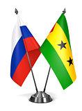 Russia, Sao Tome and Principe - Miniature Flags.