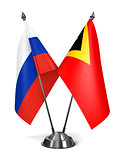 Russia and East Timor - Miniature Flags.