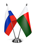 Russia and Madagascar - Miniature Flags.