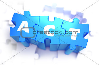 Act - White Word on Blue Puzzles.