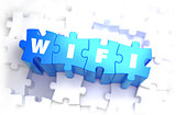 WiFi - White Word on Blue Puzzles.