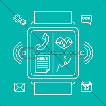 smart watch outline