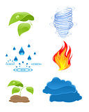 Nature elements icons