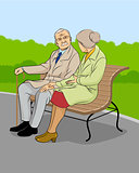 Older couple in the park