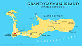 Grand Cayman Island Political Map
