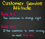 Rules of customer service