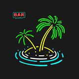 Neon Symbol Palm Tree