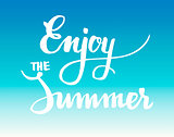 Summer calligraphical design element for poster or flyer