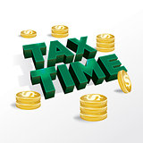 Tax Time Income Tax Concept Illustration