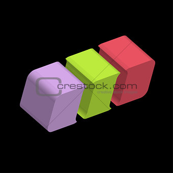 3d rounded cube logo