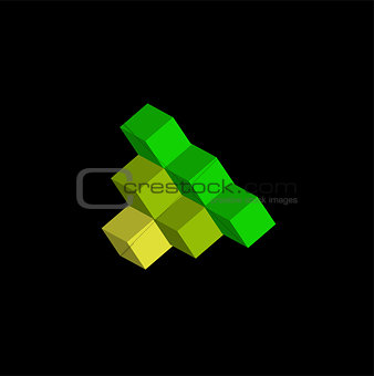 3d Cube logo design