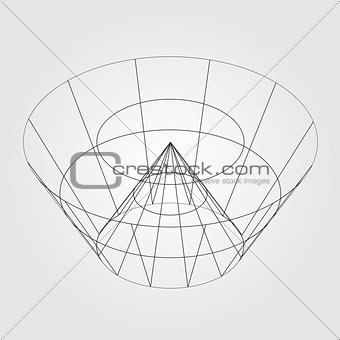3d wireframe render object