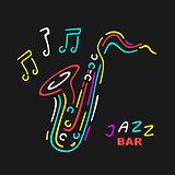 Neon Saxophone Symbol