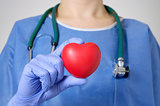 Heart in surgeon's hand