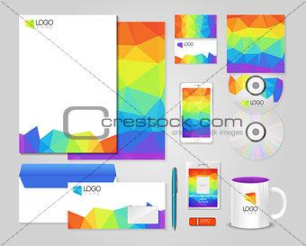 Bright corporate identity template