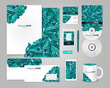 Colorful corporate identity template design