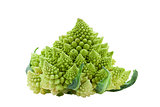 Ripe vegetable romanesco broccoli or cauliflower cabbage isolate