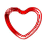 Red glow heart on white background