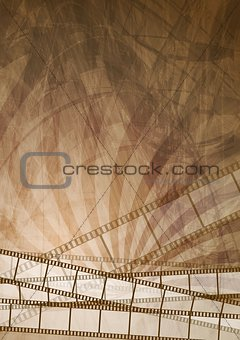 Grunge brown filmstrip abstract background