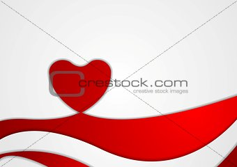 Abstract Valentine background with heart