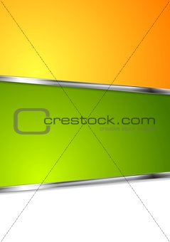 Bright tech background with metal stripes