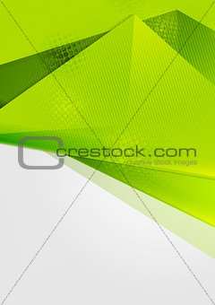 Bright green abstract flyer design